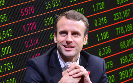 macron-ami-finance | CC BY 2.0 | photomontage d'après une image de LE WEB